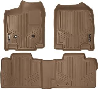 SMARTLINER Custom Fit Floor Mats 2 Row Liner Set Tan for 2007-2010 Ford Edge/Lincoln MKX