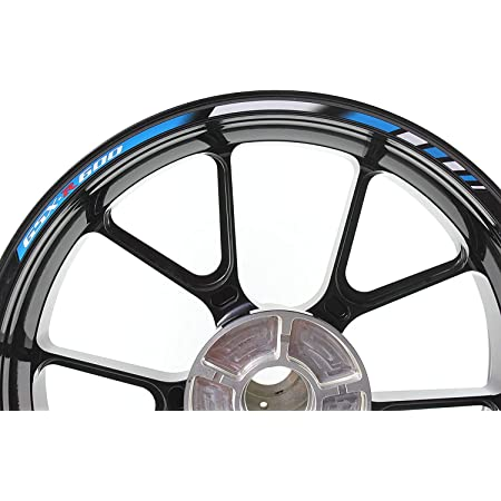 Impressiata Suzuki Gsx R 600 Motorrad Felgenrandaufkleber Specialgp Blau Und Weiß Komplettset Aufkleber Sticker Auto