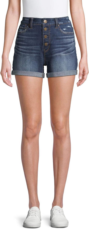 Women Rexlaxed Fit High Rise Denim Jean Shorts