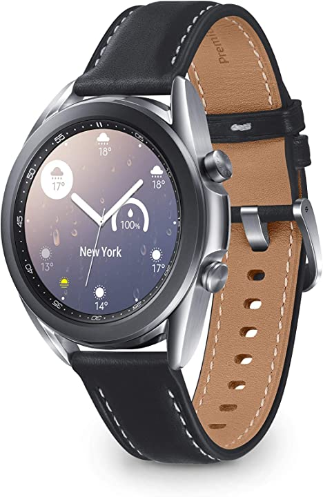 Smartwatch bluetooth, cassa 45mm acciaio, cinturino pelle, saturimetro samsung galaxy watch3 SM-R840NZSAEUB