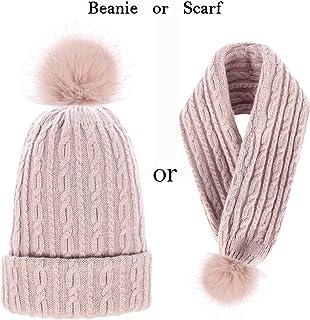 OMECHY Womens Winter Knitting Beanie Hat Wool Slouchy Baggy Hats Ski Skull Cap Stretchy Scarf
