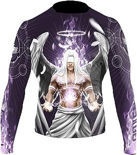 Raven Fightwear Men's Archangel Gabriel Rash Guard MMA BJJ Purple - Purple - Large
