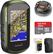 Garmin eTrex Touch 35 Color GPS/GLONASS w/ 3-axis Compass (010-01325-10) + 32GB Memory Card + LED Brite-Nite Dome Lantern Flashlight + Carrying Case + 4X Rechargeable AA Batteries w/Charger