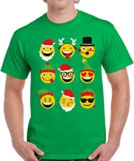 Vizor Emoji Christmas Shirt Funny Santa Emoji Shirt Men's Ugly Christmas T Shirt