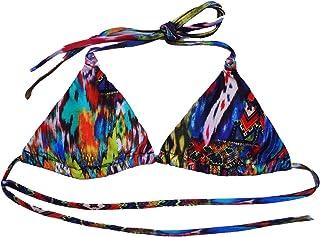 Parte Superior de Bikini, Nudo, Parte Superior Triangular para Mujer, Tela de impresión, por Awa de Mwear, Fabricado en Costa Rica Piezas separadas.