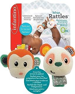 Infantino - Wrist Rattles - Monkey/Panda
