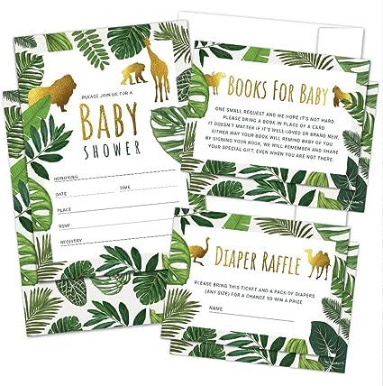Baby Shower Diaper Raffle Greenery Baby Girl Jungle Baby Shower Instant Diaper Raffle Tickets Safari Baby Shower 025