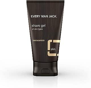 Every Man Jack Shave Gel, Sandalwood, 5.0-ounce