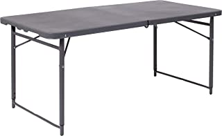 4ft folding table adjustable
