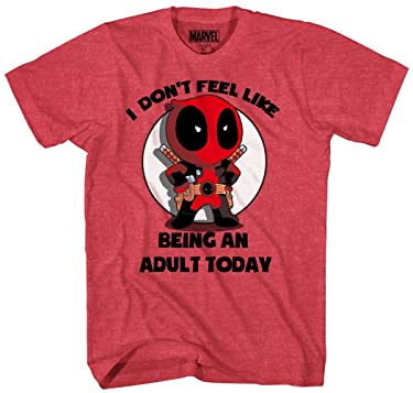 Marvel Deadpool Don't Feel Like Being an Adult T-Shirt