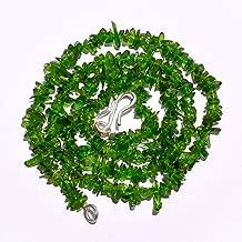 Gemstone Hub Natural Tsavorite Gemstone Uncut Smooth Beads Necklace 3-5 mm 16