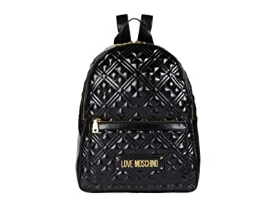 LOVE Moschino Quilted Backpack (Black) Backpack Bags