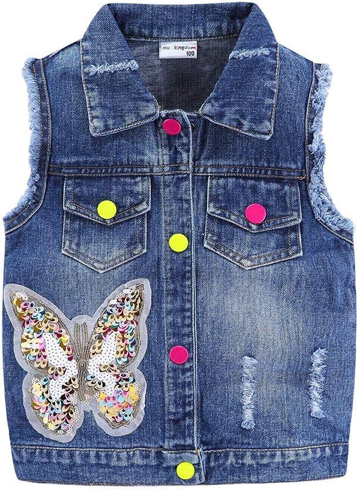 LittleSpring Little Girls Denim Vest Jacket Sales results No. 1 Jean Sleeveless Gorgeous Casu