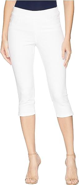 Pull-On Skinny Capris in Optic White