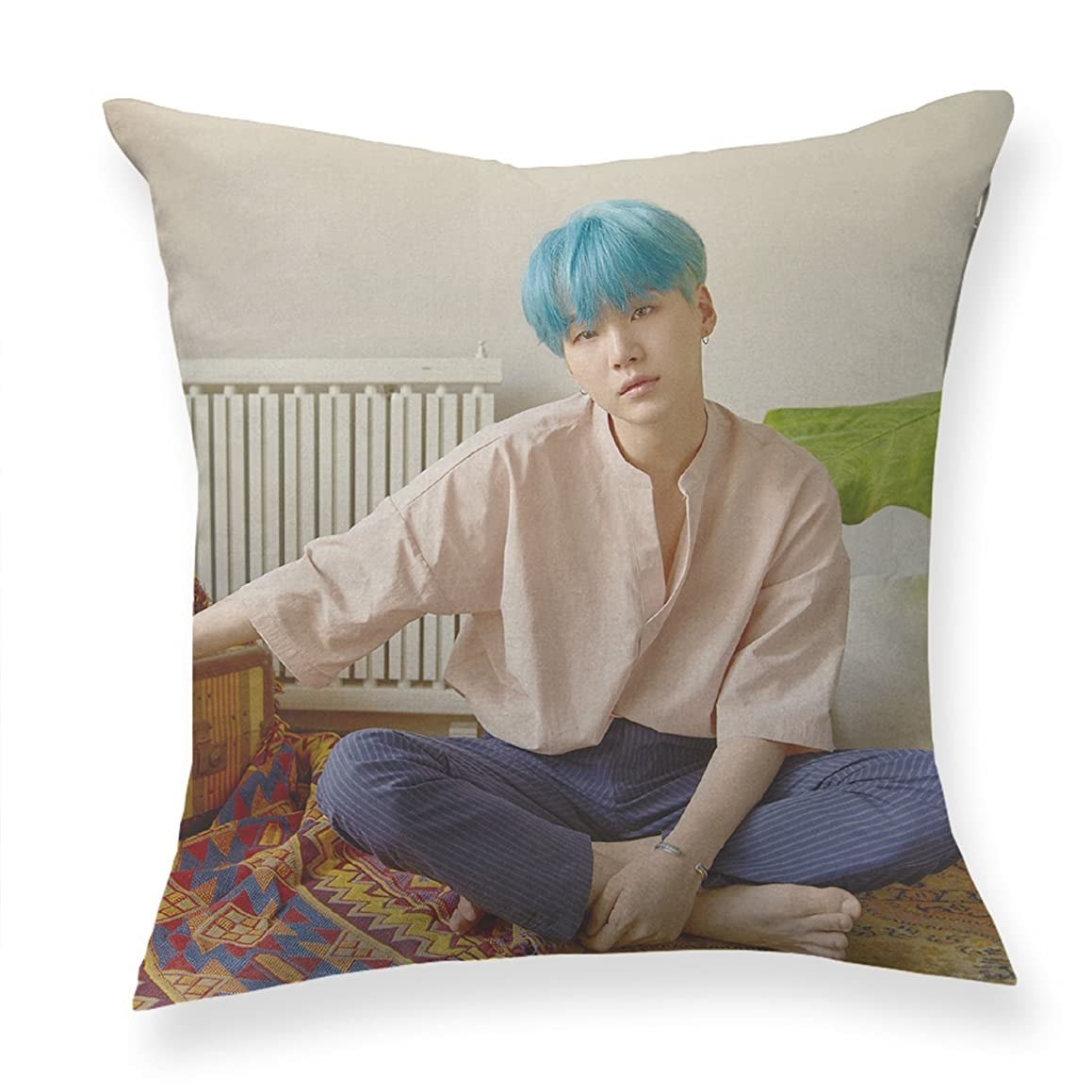 "Bosunshine BTS Bangtan Boys《Love Yourself 结 ""Answer》Throw Pillow Soft Velvet Core Pillow Plush Stuffed Pillow Blanket (BTS-04)"