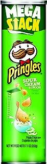 Pringles Potato Crisps Chips, Sour Cream and Onion Flavored, Mega Stack, 7.1 oz Can