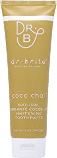 Dr. Brite Coco Chai Natural Whitening Toothpaste with Organic Coconut Oil (5 Oz)