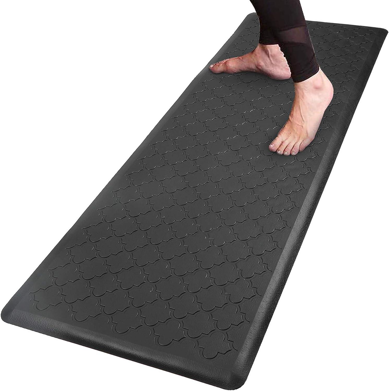 Pauwer Oversized Anti Fatigue Comfort Mat for Kitchen Floor Standing Desk  Thick Cushioned Kitchen Floor Mats Non Slip Waterproof Kitchen Runner Rug  ...