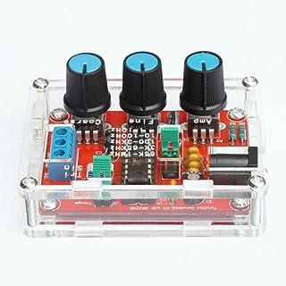 iHaospace Fully Assembled & Acrylic Case XR2206 Generador de señal de la función Onda de seno Onda cuadrada Salida de onda triangular Output 1Hz-1MHz Amplitud de frecuencia ajustable