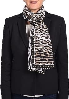 Roberto Cavalli Animal-Printed Silk Scarf Black/white/brown C3802D780-205
