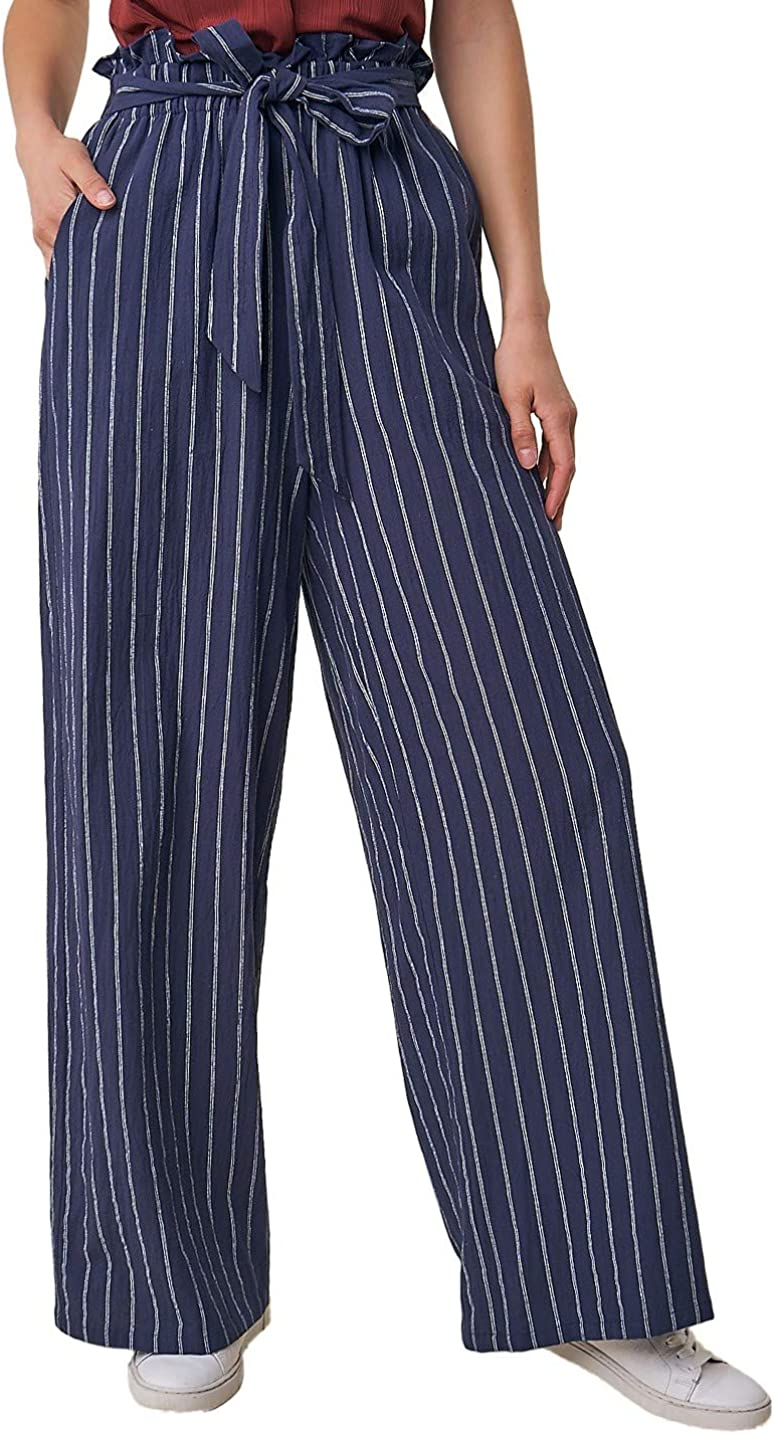Sugar Lips Women's Max 45% OFF High Waisted Pants Paper Special sale item Bag Striped