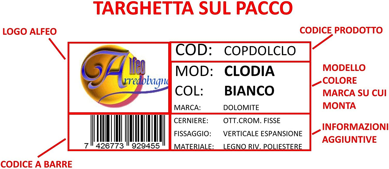 Copriwater Sedile Wc Dolomite Clodia Coprivaso Poliestere Alta Qualita Amazon It Fai Da Te