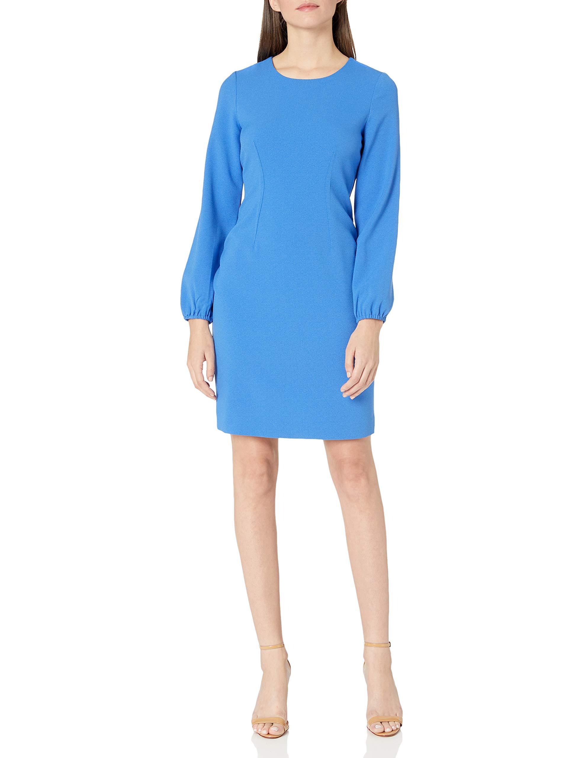 Available at Amazon: NINE WEST Women's Long Sleeve Dart Body Dress