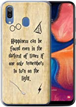 Phone Case for Samsung Galaxy A20/A30 2019 School of Magic Film Quotes Happiness/Darkest Times Design Transparent Clear Ultra Soft Flexi Silicone Gel/TPU Bumper Cover