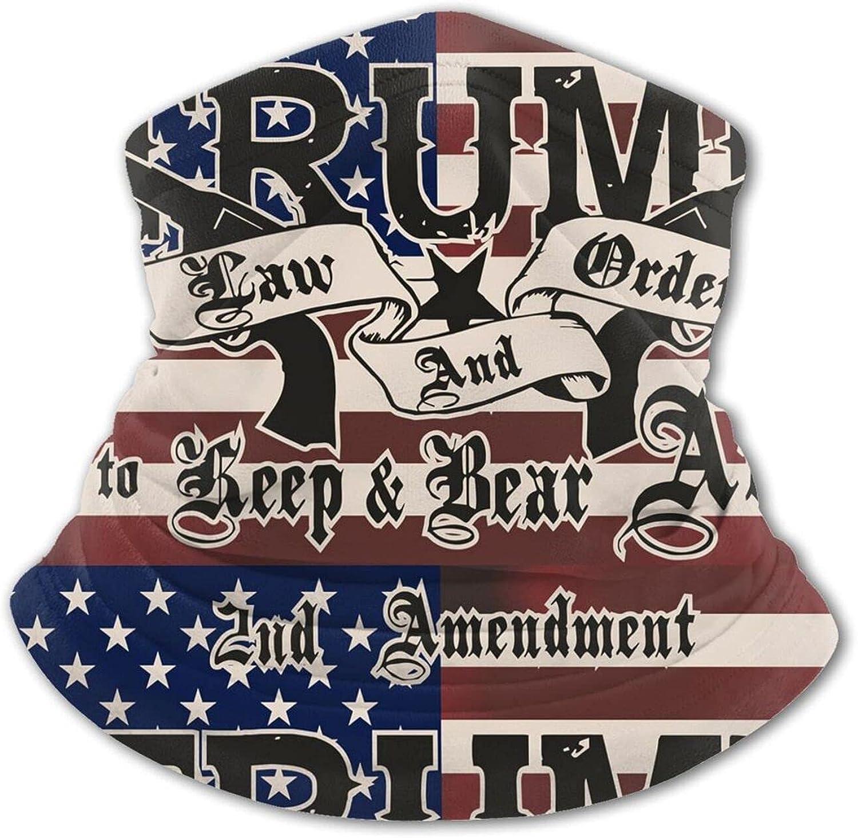 Trump Order 2nd Amendment Guns Flag Kids Neck Gaiter Boys Girls Face Mask, Sun Uv Protection Reusable Balaclava Bandana Half Face Protective Masks Scarf Cycling Black