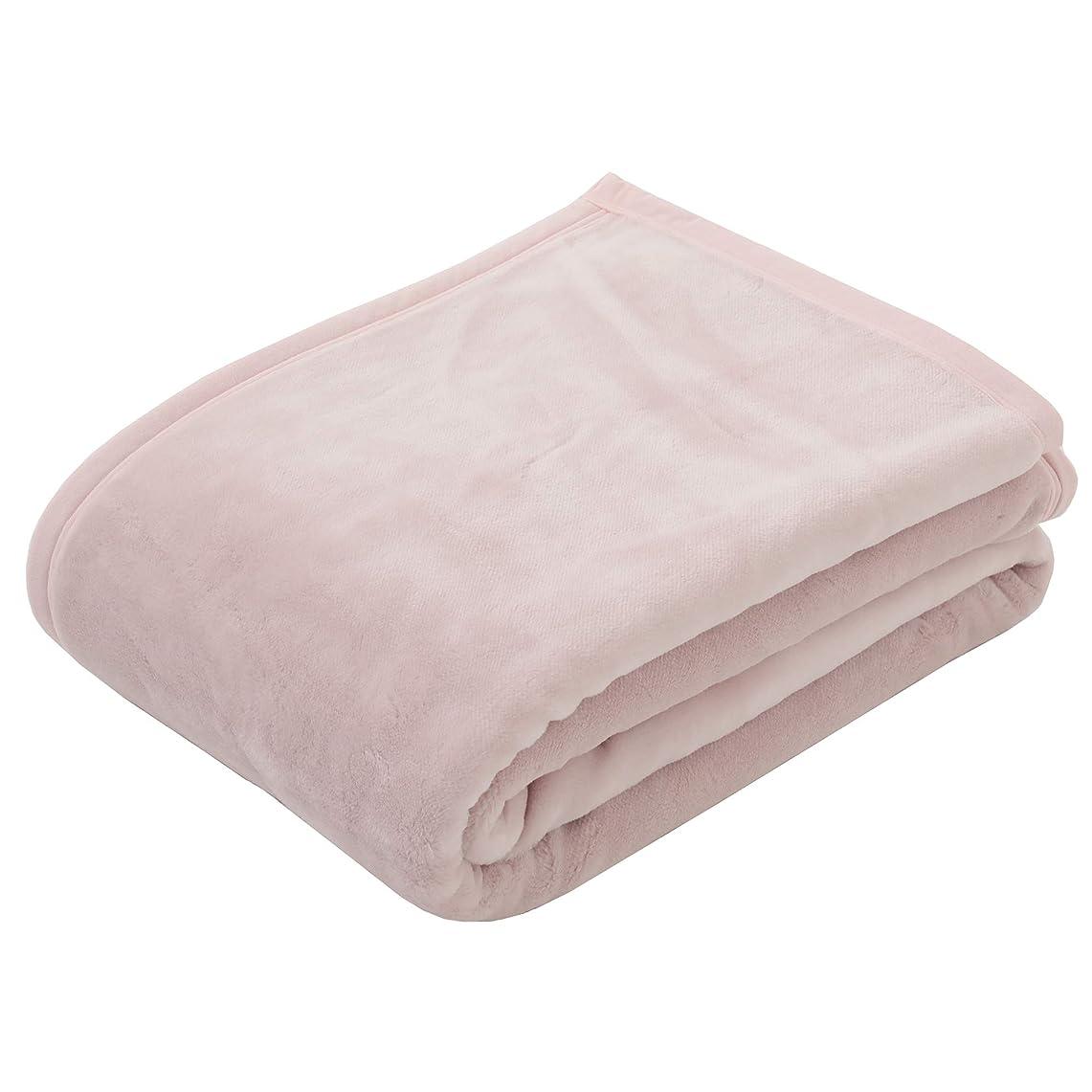 船尾花輪ヒゲクジラ西川(Nishikawa) 毛布 ピンク シングル 日本製 なめらかローズオイル加工 ボーテ 無地カラー FQ08500023P