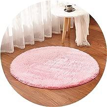 Multicolor Soft Shaggy Area Round Rug Living Room Carpet Bedroom Floor Mat Carpet Diameter 30cm-160cm Home Decoration,Diameter 120cm,Pink