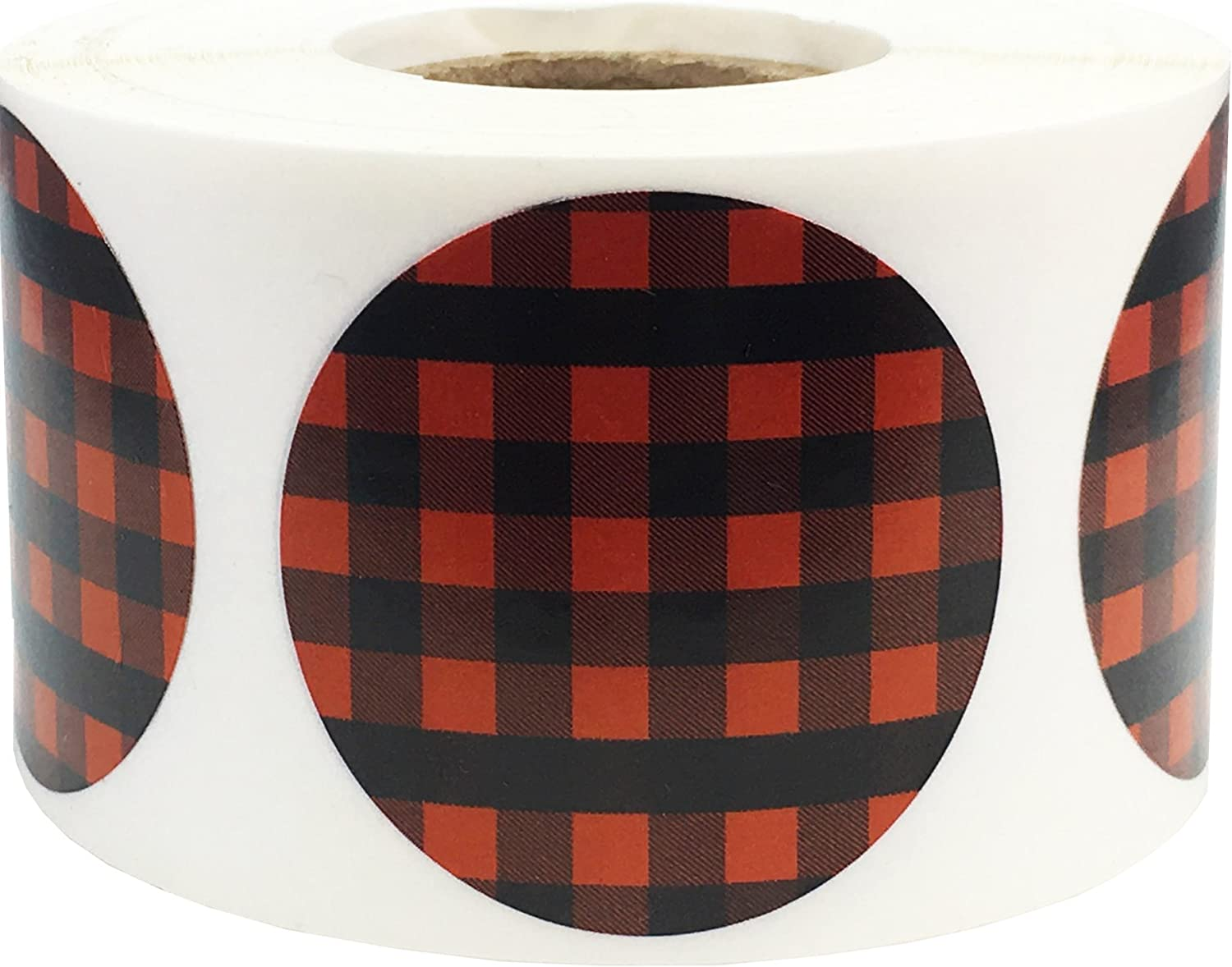 Red Buffalo Plaid Color Coding for Inventory Organizing 1 Price Super sale reduction Labels