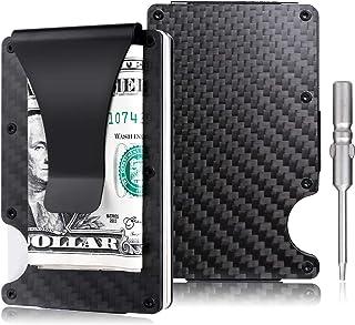 amelleon Men's RFID Blocking Genuine Leather SLIM Wallet Front Pocket Wallet With Money Clip