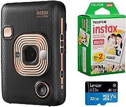 Fujifilm Instax Mini Liplay Hybrid Instant Camera (Elegant Black), Bundle Instax Mini Instant Daylight Film, Twin Pack (20...