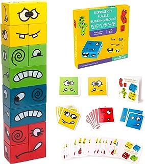 Inpher Montessori Houten dobbelsteen, kleurrijk educatief speelgoed, interactie speelgoed, houten uitdaging, denktraining,...
