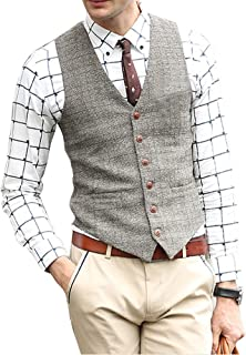 Zicac Men's Unique Advanced Custom Vest Skinny Wedding Dress Waistcoat