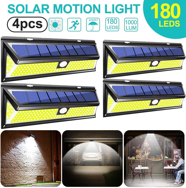 180 LED Solarleuchten Auen Lifemaison Solarbetrieben Gartenleuchte Solar Beleuchtung Wasserdichte Wandleuchte Garten LED Solarlampe Schwarz 1 2 4 Stück