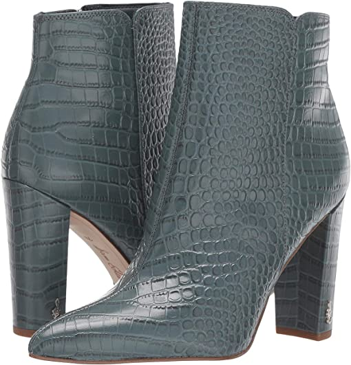 Grey Iris Kenya Croco Leather
