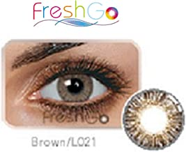 Case for Color Contacts Eye LensesFreshGoCosmetic Makeup Lens Last 1 Month! (Brown)