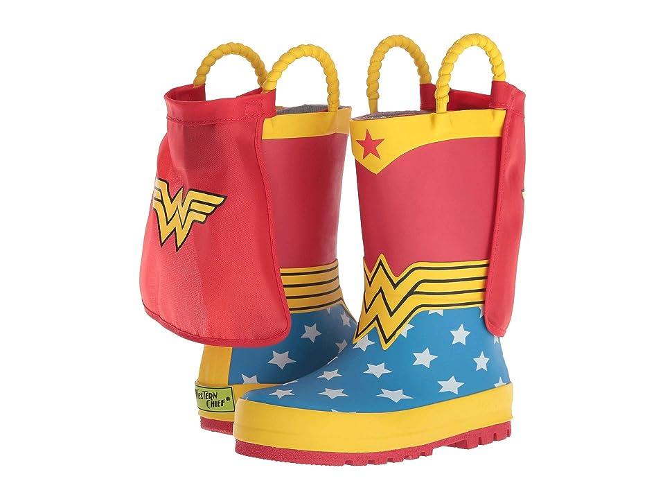 Western Chief Kids Wonder Woman Rain Boot (Toddler/Little Kid/Big Kid) (Red) Girls Shoes