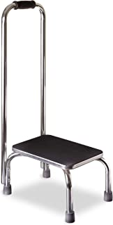 DMI Step Stool with Handle for Adults and Seniors, Heavy Duty Metal Stepping Stool for High Beds, Portable Foot Step Stool for Elderly, 300 lb Weight
