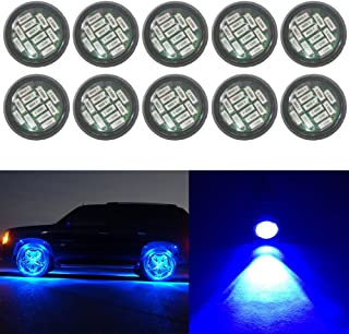 YUK 10x 12SMD 12W Eagle Eye DRL LED Rock Lights For JEEP ATV Off Road Truck Under Trail Rig Lights Blue