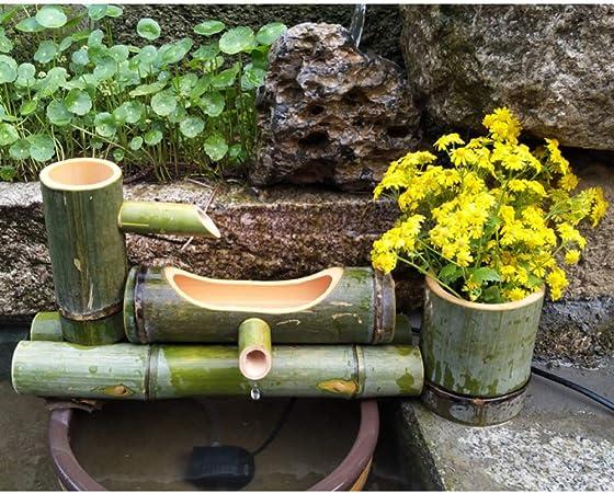 Bamboe Fontein Japanse Tuindecoratie Feng Shui Waterval Functie Lengte 55 Cm Amazon Nl Tuin Terras Gazon