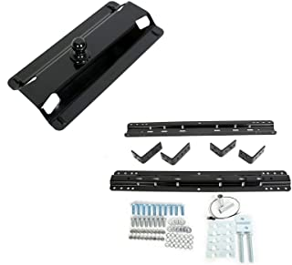 ECOTRIC Fifth-Wheel Rail Installation Kit & Gooseneck Trailer Hitch for Truck Bed