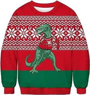 URVIP Unisex Realistic 3D Digital Print Christmas Pullover Hoodie Sweatshirt