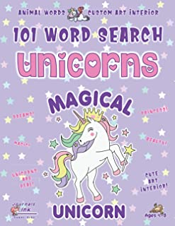 Animal Word Search Book for Girls Ages 4-8: 101 Puzzle Pages. Custom Art Interior. Cute fun gift! SUPER KIDZ. Magical Purp...