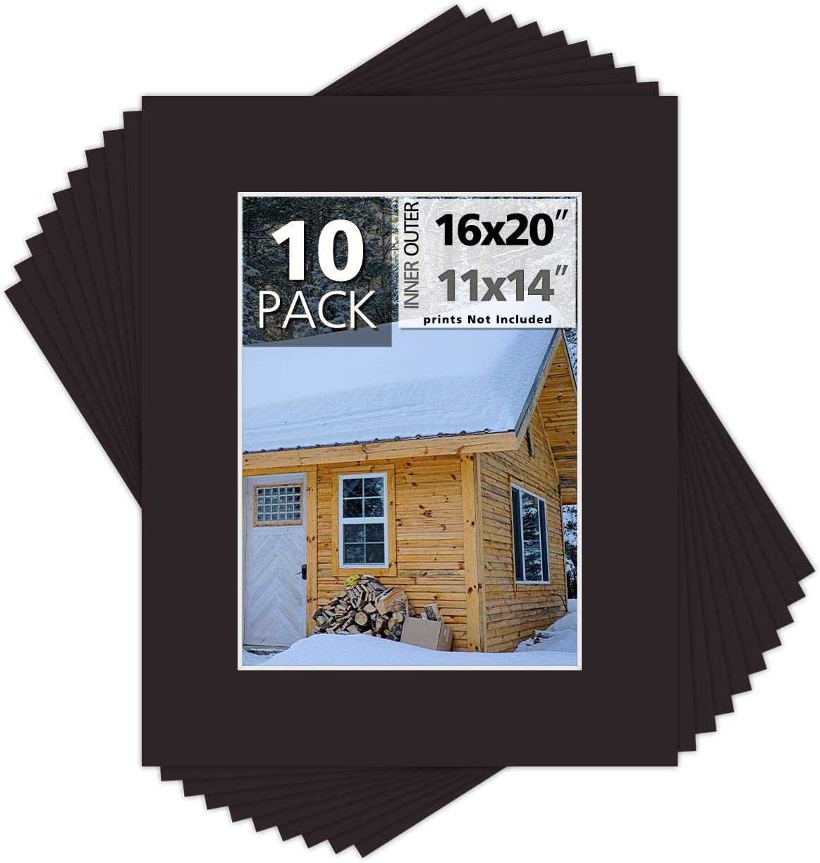 Superlatite Mat Board Center Pack of 10 Picture Mats Photo 16x20 11x14 gift for