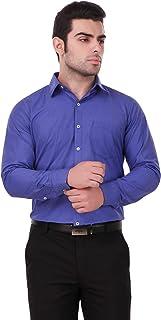 Urbancolorz Men's FL01 Blue Colour Formal Shirt, Size 38