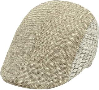 f3189233a4950 Voberry Mens Vintage Beret Cap Newsboy Ivy Cabbie Driving Flat Hat Cap