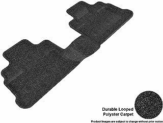 3D MAXpider Second Row Custom Fit Floor Mat for Select Jeep Wrangler Models - Classic Carpet (Black)
